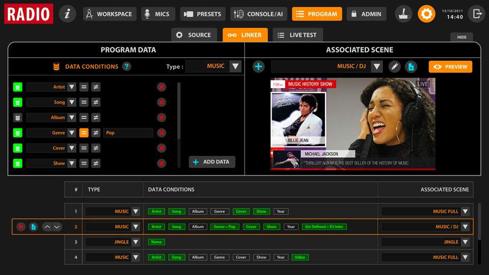 Vizualizace programového výstupu - automatická grafika a titulkování