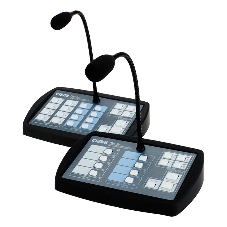 Multi-zónové pagingové mikrofonní stanice PM4-SA & PM8-SA s možností automatizovaného hlášení