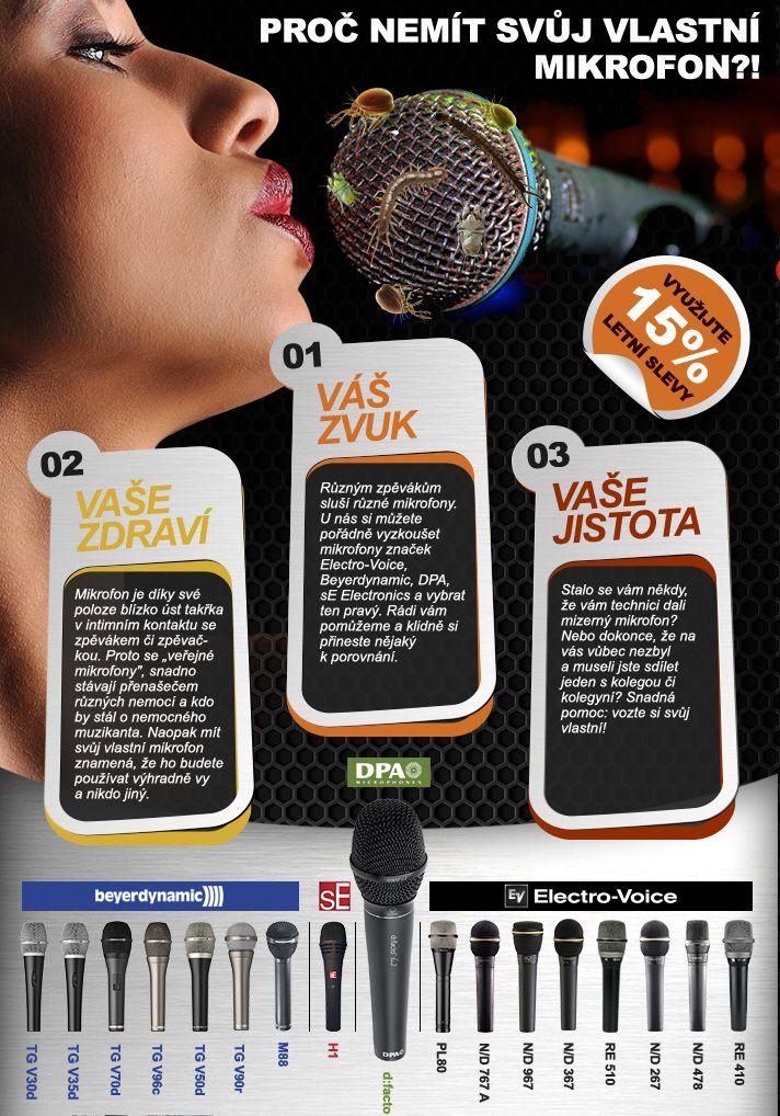 Jednoduchý průvodce volbou vhodného mikrofonu